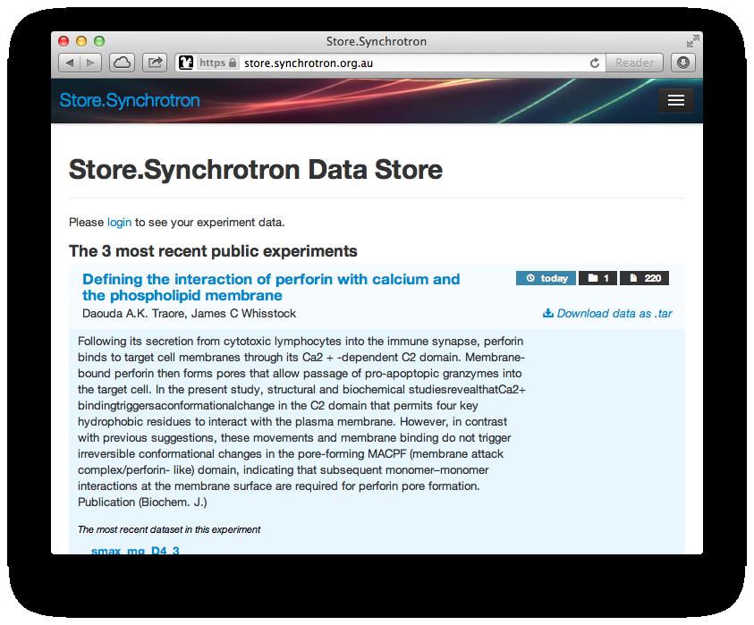 Store.Synchrotron