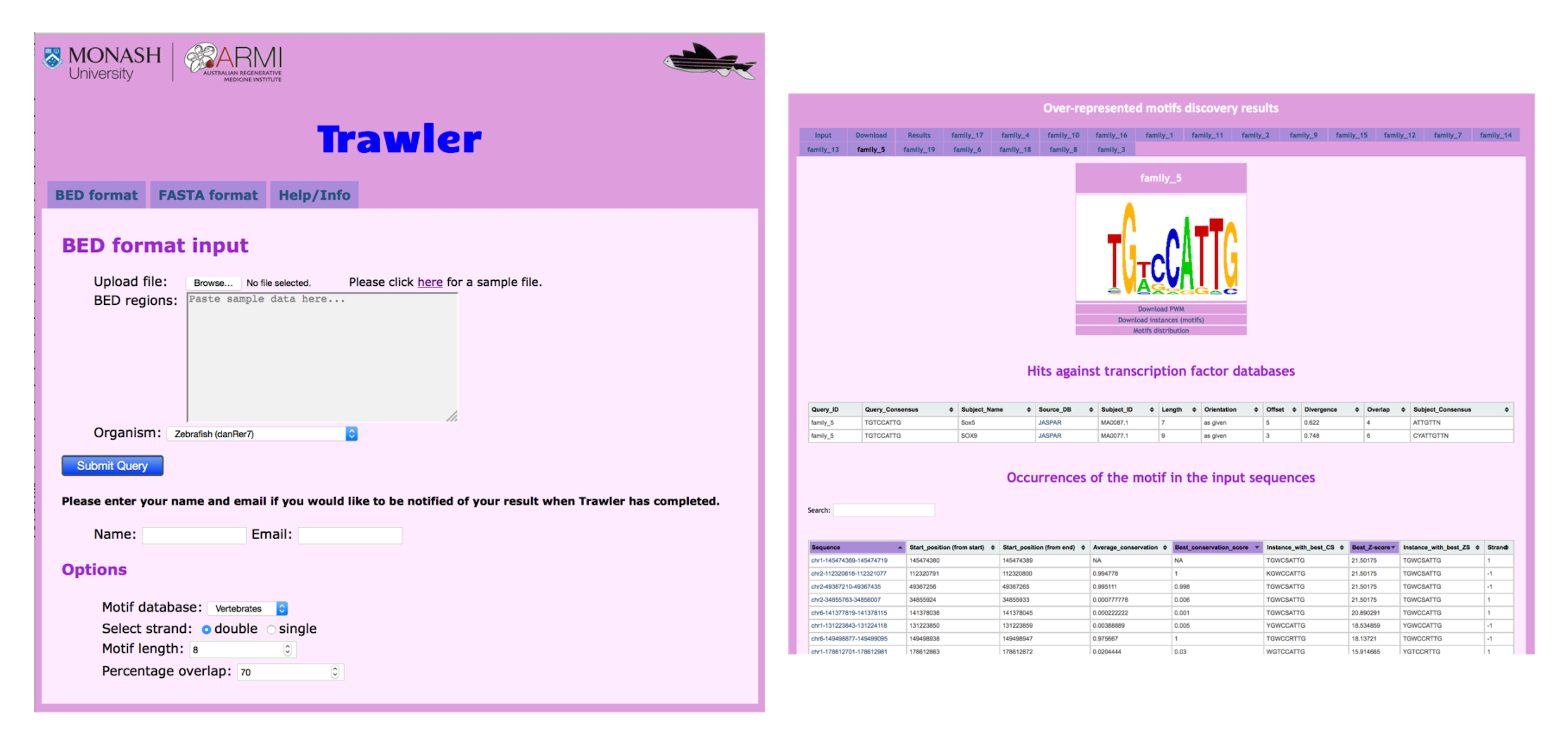 Web interface for the Trawler web service.